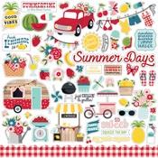 A Slice Of Summer Element Sticker Sheet - Echo Park