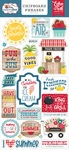 A Slice Of Summer 6x13 Chipboard Phrases - Echo Park - PRE ORDER