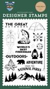 The Great Outdoors Stamp Set - Outdoor Adventures - Carta Bella