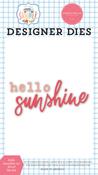 Hello Sunshine #2 Word Die Set - Summer - Carta Bella - PRE ORDER
