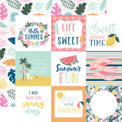 4X4 Journaling Cards Paper - Pool Party - Echo Park