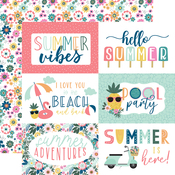 6X4 Journaling Cards Paper - Pool Party - Echo Park