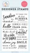 Summer Sentiments Stamp Set - Summer - Carta Bella - PRE ORDER
