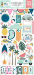 Pool Party 6x13 Chipboard Accents - Echo Park
