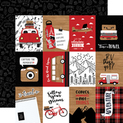 3X4 Journaling Cards Paper - Let's Go Anywhere - Echo Park