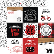 4X4 Journaling Cards Paper - Let's Go Anywhere - Echo Park