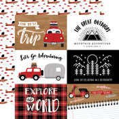 6X4 Journaling Cards Paper - Let's Go Anywhere - Echo Park