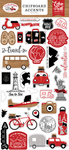 Let's Go Anywhere 6x13 Chipboard Accents - Echo Park