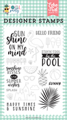 Sunshine Kisses Stamp Set - Pool Party - Echo Park - PRE ORDER
