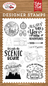 New Adventures Stamp Set - Let's Go Anywhere - Echo Park