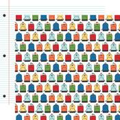 Backpacks Paper - I Love School - Echo Park