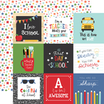 4X4 Journaling Cards Paper - I Love School - Echo Park