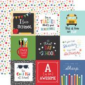 4X4 Journaling Cards Paper - I Love School - Echo Park