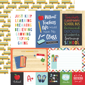 4X6 Journaling Cards Paper - I Love School - Echo Park