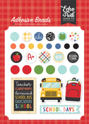 I Love School Adhesive Brads - Echo Park