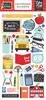 I Love School 6x13 Chipboard Accents - Echo Park