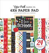 I Love School 6x6 Paper Pad - Echo Park