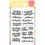 Sending Love Sentiments Stamps - Waffle Flower
