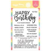 Happy Birthday Sentiments Stamps - Waffle Flower