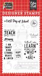 First Day of School Stamp Set - I Love School - Echo Park