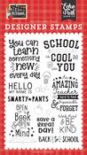 School is Cool Stamp Set - I Love School - Echo Park