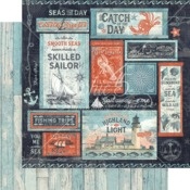 Seas The Sunshine Paper - Catch Of The Day - Graphic 45