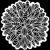 Cactus Dahlia 12x12 Stencil - The Crafters Workshop