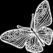 Joyous Butterfly 12x12 Stencil - The Crafters Workshop