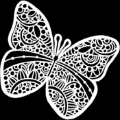 Sunny Butterfly 6x6 Stencil - The Crafters Workshop