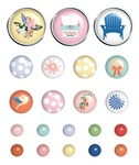 Peachy Keen Wood Buttons - Fancy Pants