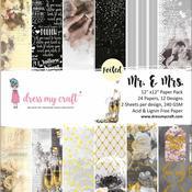 Mr. & Mrs. 12x12 Paper Pad - Dress My Crafts