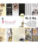 Mr. & Mrs. 6x6 Paper Pad - Dress My Craft