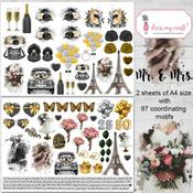 Mr. & Mrs. Image Sheet A4 - Dress My Craft