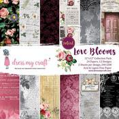 Love Blooms 12x12 Paper Pad - Dress My Craft