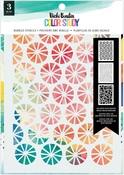 Bubbles Color Study Stencil - Vicki Boutin - PRE ORDER