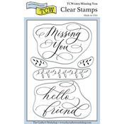 Missing You 4x6 Stamp Set - Crafters Workshop