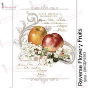 Reverse Flowery Fruits Transfer Me Sheet A4 - Dress My Craft