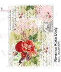 Reverse Rose Doily Transfer Me Sheet A4 - Dress My Craft