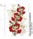 Reverse Red Carnations Transfer Me Sheet A4 - Dress My Craft