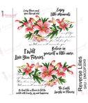 Reverse Lilies Transfer Me Sheet A4 - Dress My Craft