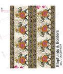 Elephants & Borders Transfer Me Sheet A4 - Dress My Craft