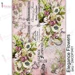 Elegance Flowers Transfer Me Sheet A4 - Dress My Craft