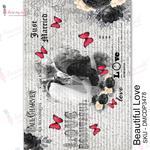 Beautiful Love Transfer Me Sheet A4 - Dress My Craft
