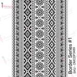 Border Series #1 Transfer Me Sheet A4 - Dress My Craft
