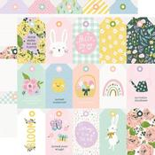 Tags Paper - Bunnies & Blooms - Simple Stories