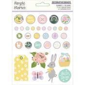 Bunnies & Blooms Decorative Brads - Simple Stories