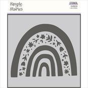 Bunnies & Blooms 6x6 Stencil - Simple Stories