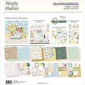 Collector's Essential 12x12 Kit - Bunnies & Blooms - Simple Stories