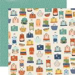 Baggage Claim Paper - Safe Travels - Simple Stories - PRE ORDER