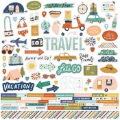 Combo Stickers - Safe Travels - Simple Stories